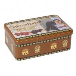 Crêpes dentelle Chocolat au lait et chocolat noir - Boîte métal 200g