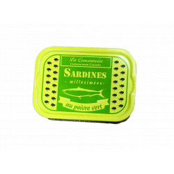 Sardines au poivre vert